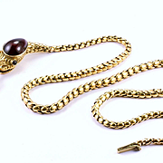 "Early Victorian Garnet ""Ouroboros"" Snake Necklace, English c. 1840s"