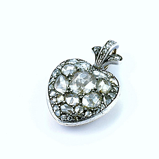 A Splendid Georgian 'Flaming Heart' Diamond Locket, late 18th century