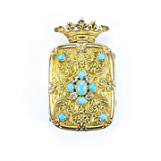 A Magnificent, Large Gem Set Marquis' Vinaigrette, French circa 1840