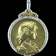 A Large Art Nouveau Gold, Platinum and Diamond Slide Locket, signed Émile Séraphin Vernier, French after 1890