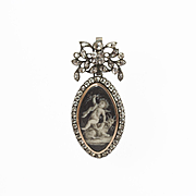 Charming Louis XVI Miniature, Sentimental Locket Back