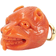 Rare Coral Amulet in the Shape of a Marten's Head, Italy,  16th - 17th century