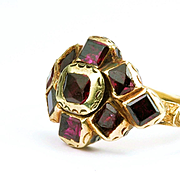 A 17th Century Garnet Ring, Spanish c. 1680