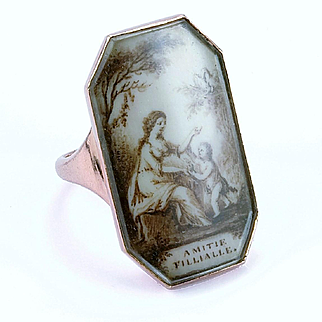 "Very Fine Georgian Sentimental Ring ""Amitie Fillialle"", c. 1790"