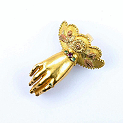 Scarce Georgian Gold Hand Pendant, c. 1820