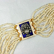 Rare Georgian Diamond and Pearl Giardinetti Bracelet, c.1790