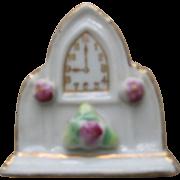 Old Ceramic  Miniature Clock  -  Occupied Japan