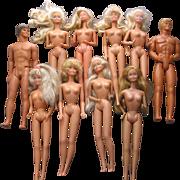Lot of 10 Older Barbie  Dolls