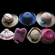 7 Older Doll Hats