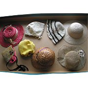 8 Older Doll Hats