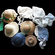 8 Older Doll Hats