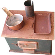 Old Small Metal Doll Stove
