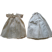 Small Long Old Baby Doll Dress & Slip