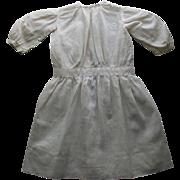 White Cotton Antique Doll Dress
