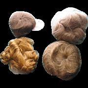 4 Un-used Doll Wigs