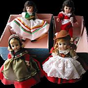 "4 Madam Alexander 8"" Dolls"