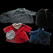 Lot of 4 Older Doll Coats