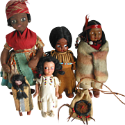 5 Indian Type Dolls