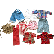 Older Doll Pants and Tops - 11 pieces