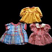 3 Vintage Doll Dresses