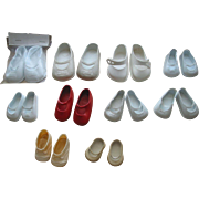 10 Pairs of Vinyl Doll Shoes