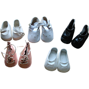5 Pairs of Larger Doll Shoes