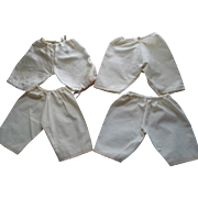 4 Pairs of Larger Doll Bloomers