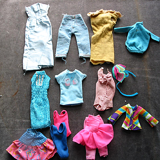 Lot of Doll Clothes - Mostly Barbie Size