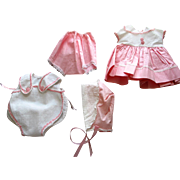 TINY TEARS Doll Clothes - Dress, Hat, Booties and Playsuit