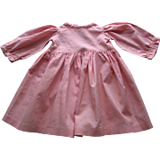 Old Pink Cotton Doll Dress