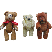 Lot of 3 Smaller Toy Bears