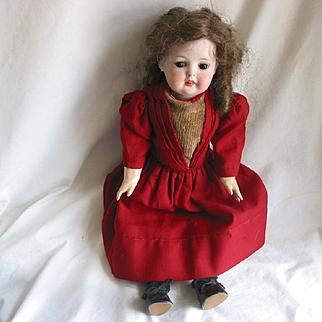 """17"""" Bisque Head Doll - A1"""