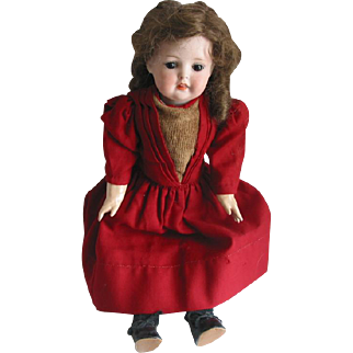 "17"" Bisque Head Doll - A1"