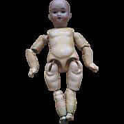 """Antique 9"""" Bisque Head doll"""