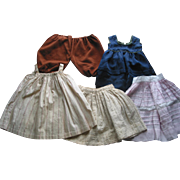 5 Pieces of Old Doll Clothes