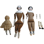 Smaller China Doll Heads and Bodies