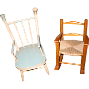 2 Older Doll Chairs