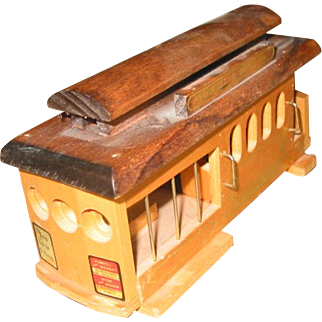 Wooden Wind-Up - Rail Road Car