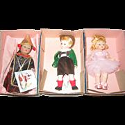 3 Alexander Dolls - MIB