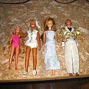 Lot of 4 Barbie Type Dolls