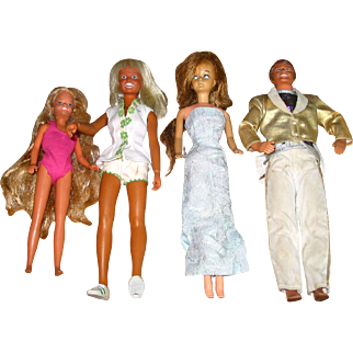 Lot of 4 Barbie Type Dolls