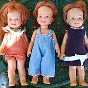 3 Ideal Cinnamon Dolls