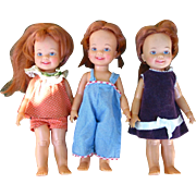 3 Ideal Cinnamon Dolls