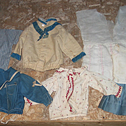 Old Doll's Skirts and Tops