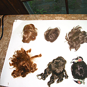 6 Smaller Doll Wigs