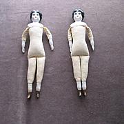2 Old China Head Dolls