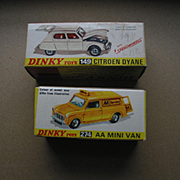 Original Boxes for 2 Older Dinky Toys