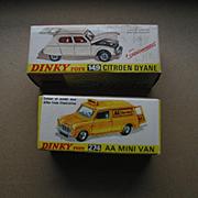 Original Boxes for 2 Older Dinky Toys