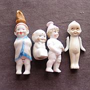 4 All Bisque Character Children Figures