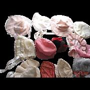 Lot of Older Doll Hats